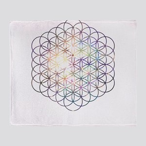 Flower of Life [Blue Star Cluster] Throw Blanket